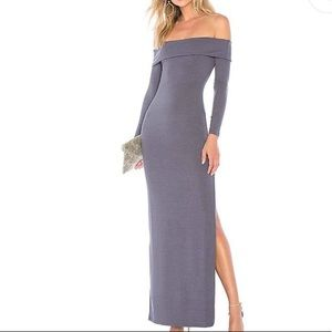 Privacy Please Off Shoulder Maxi Dress NWT